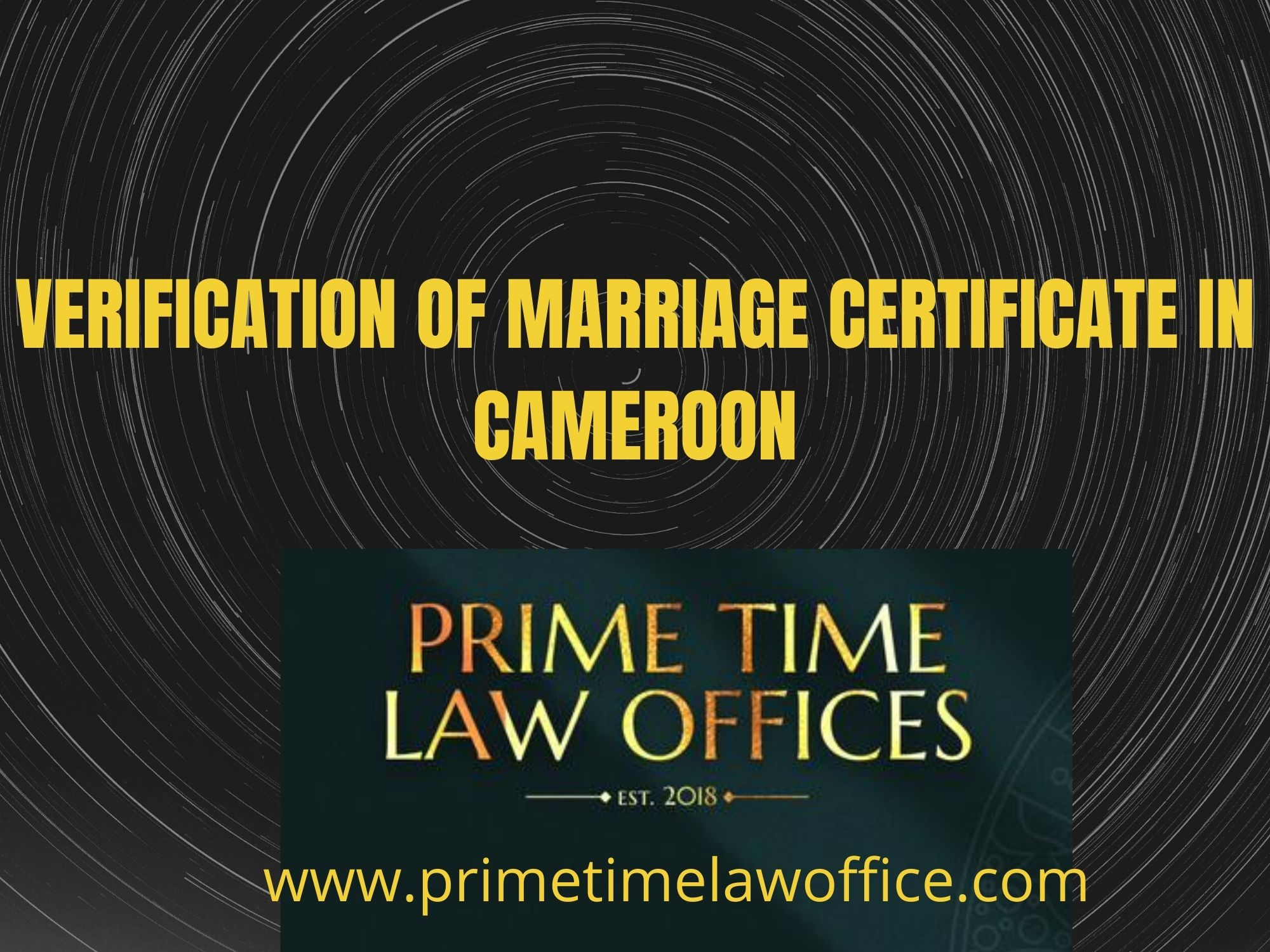 VERIFICATION OF A MARRIAGE CERTIFICATE IN CAMEROON